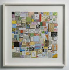 Institute. Chris Kenny. Collage construction with map pieces.
