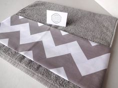 Quality Plush OneofaKind handmade towel Grey bathroom by AugustAve, $12.00