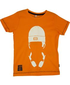 Name It fancy oranje t-shirt voor muziek liefhebbers. name-it.nl.emilea.be
