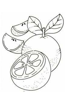 Planet Crafts, Fruit Coloring Pages, Coloring Pages For Kids, Embroidery Patterns, Free Printables, Kids Rugs, Orange, Wallpaper, Needlepoint