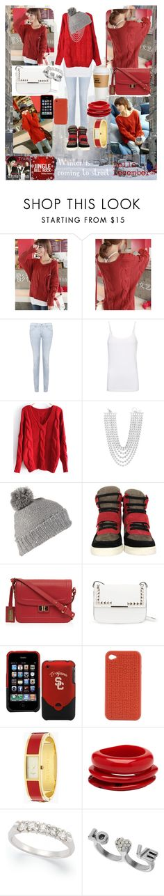 """Hello December!!! Be good winter"" by sali-sali ❤ liked on Polyvore featuring Citizens of Humanity, MANGO, Valentino, Ash, Elie Saab, Dsquared2, Kate Spade, Mimco and Miss Selfridge"