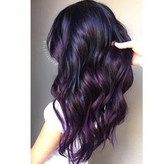 Pop of violet #hairbykatlin #purplehair #violethair #purpleombre #ombre…