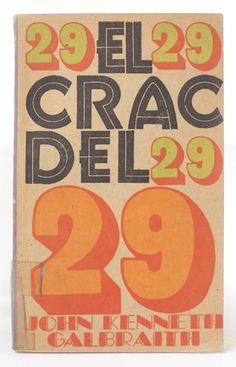 cuban book cover  El crac del 29 (The financial crash of 1929)  design by Oscar Hernández, 1969