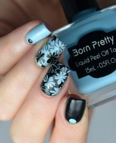 36 Floral Nails You Must Try with Flower Theme Nail Art Stamp Template *Size:12 x 6cm *Package Contents : 1pc Born Pretty L029 Nail Art Stamp Template *Instructions: The plate is shielded by a thin tr