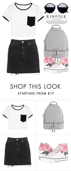 """""""Aug 5th (tfp) 1958"""" by boxthoughts ❤ liked on Polyvore featuring WithChic, MICHAEL Michael Kors, Topshop, Converse and tfp"""