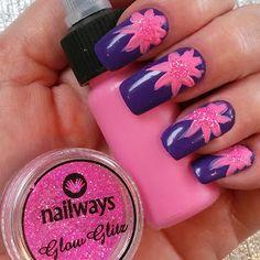 Nailways: SWATCH & NAIL ART TIME! PAARSE SOAK OFF GEL MET ACRYL EN GLITTERS