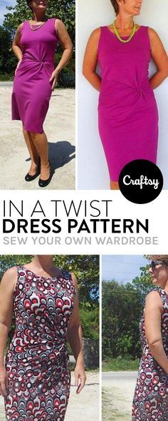 The in a twist dress pattern is a classy and comfortable addition to any wardrobe. Get the free sewing pattern at Craftsy!