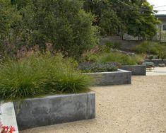 zick-zack gartenmauer-hangsicherung bepflanzte beton elemente