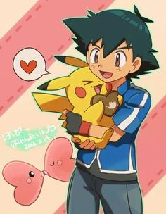 Ash Ketchum and Pikachu ^.^ ♡ I give good credit to whoever made this