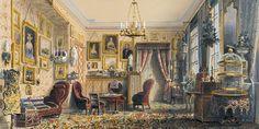 Das Wohnzimmer mit seiner Einrichtung 1852