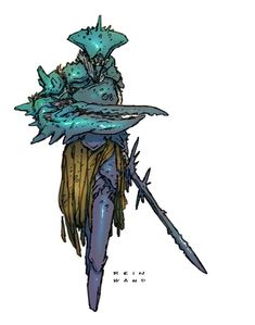 """""""Finished Oathbringer last nite, so thinkin' bout crab people today. Fantasy Character Design, Character Design Inspiration, Character Concept, Fantasy Races, Fantasy Warrior, Fantasy Art, Creature Concept Art, Creature Design, Alien Character"""