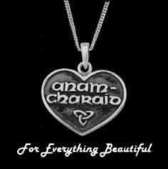 Celtic Heart Anam-Charaid Soul Mate Sterling Silver Pendant