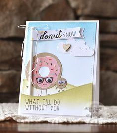 Reverse Confetti | Donut You Know stamp set and Donut You Know Confetti Cuts dies