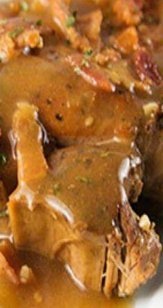 Pork Recipes Slow Cooker Smothered Pork Chop small Made its good Crock Pot Recipes, Crockpot Dishes, Pork Dishes, Meat Recipes, Cooking Recipes, Recipies, Budget Cooking, Crock Pots, Crockpot Pork Chop Recipes