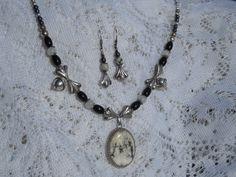 Artisan original design white turquoise necklace by Jadelsjewelry, $135.00