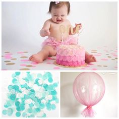 Tissue paper confetti, tulle balloons or neither with the banner?