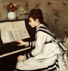 ~ Eva Gonzalès ~ French artist, 1849-1883: Secretly