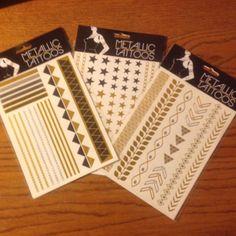 Flash Tattoos Bnwt. 3 Packs