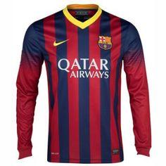 Camiseta del Barcelona manga larga Casa 2013-2014 para más de 150 € ahorro 15% http://www.camisetasdefutbolbaratasdhl.es/camiseta-del-barcelona-manga-larga-casa-20132014-p-95.html