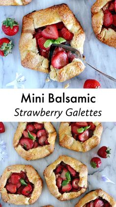 These mini balsamic strawberry galettes are packed with juicy, sweet and sour flavors, all wrapped up in a flaky buttery crust. A delicious strawberry dessert served in individual portion. #galettes #pies #rustic #crostata #strawberries #summer #simpleanddelicious Homemade Pie Crusts, Pie Crust Recipes, Fruit Galette Recipe, Best Pie, Juicy Fruit, Incredible Recipes, Strawberry Desserts, Feeding A Crowd, Summer Fruit