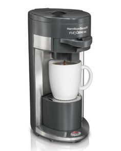 Hamilton Beach Coffee Maker, Flex Brew Single-Serve (49963) - Hamilton Beach FlexBrew Single-Serve Coffeemaker. Use a coffee cup or travel mug for coffee on the go. Use a single-serve K-Cup or ground coffee. Want to use a single-serve pack? Insert the K-Cup and push the lever down, that's it!.