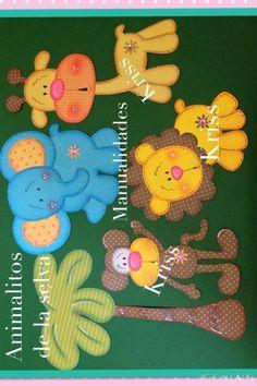 Resultado de imagen para moldes en foami para portalapices con Foam Crafts, Diy And Crafts, Crafts For Kids, Paper Crafts, Kids Punch, Baby Shawer, Animal Quilts, Baby Sensory, Ideas Para Fiestas