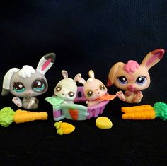 Littlest Pet Shop 2668 2669 1920 2629 Bunny Rabbit Baby Mommy LPS Toy HASBRO