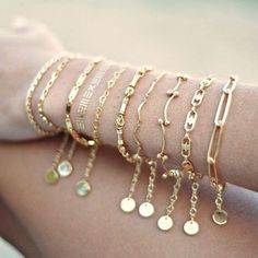 Such a delicate piece. A simple dainty gold chain. ► Gold plated chain ► inches) bracelet with 1 inch extension. ► gold plated clasp and jumprings The last photo is just to show the chain itself. Dainty Bracelets, Silver Bracelets, Jewelry Bracelets, Gold Earrings, Diamond Bracelets, Chain Bracelets, Baby Jewelry, Charm Jewelry, Statement Earrings