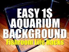Cool Diy Projects, Craft Projects, Life Hacks Youtube, Aquarium Backgrounds, Diy Aquarium, Background Diy, Diy Videos, Fish Tank, Fish Room