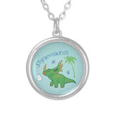 Cute Styracosaurus Necklace #styracosaurus #dinosaurs #animals #kawaii #jewelry