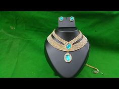 (DIY) How to make Designer Wear Bridal Necklace..The Stunning Handmade's.❤ - YouTube