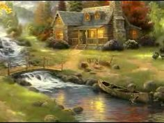 Thomas Kinkade - Mountain Paradise - www.world-wide-art.com