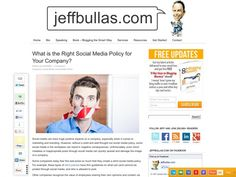 What is the Right Social Media Policy for Your Company?  Read more at http://www.jeffbullas.com/2013/10/22/what-is-the-right-social-media-policy-for-your-company/#f5yUCTmY6gqumQsA.99