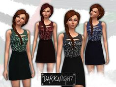 The Sims Resource: Sleeveless Sequin Blouson by DarkNighTt • Sims 4 Downloads