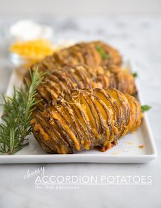 Cheesy Accordion Potatoes