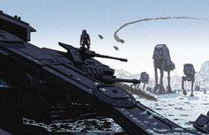 Echo Base Has Fallen Laurie Greasleyest un illustrateur membre du Poster Posse, ce collectif d'artistes passionnés de pop culture participant à l'exposition Star Wars / An Art Odyssey …