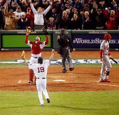 Koji Uehara and David Ross, Boston Red Sox