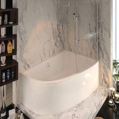 Shower Screens For Corner Baths elegant white corner bath shower screen   bathrooms   pinterest