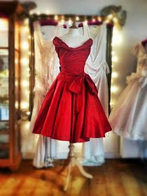413b193ae0dc Scarlet silk satin evening gown by Joanne Fleming Design The power of the  red dress.