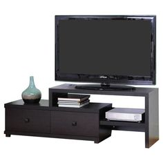 """You should see this Blythe 58"""" TV Stand in Dark Brown on Daily Sales!"""