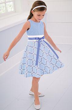 compra From CWDkids: Light Blue Mixed Print Dress Baby Girl Party Dresses, Little Girl Dresses, Girls Dresses, Flower Girl Dresses, Summer Dresses, Baby Girl Fashion, Kids Fashion, Moda Kids, Frocks For Girls