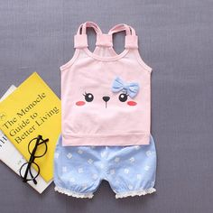 Shorts Pants Outfits Baby Girls Clothes Set Felicy for 0-24 Months Baby Clothes 2PC Toddler Infant Kids Baby Girls Summer Sleeveless Floral Printed T-Shirt Tops