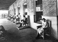 Before Huey Long's reforms, patients at the Central Hospital for the Insane were locked in chairs during their 'recreation' time.