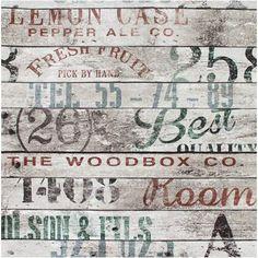 DecoMode vliesbehang hout met tekst | Praxis