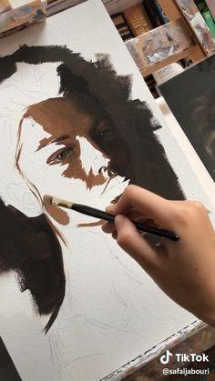 Art Painting Gallery, Art Drawings Sketches Simple, Diy Canvas Art, Art Sketchbook, Portrait Art, Aesthetic Art, Art Tutorials, Creative Art, Watercolor Art