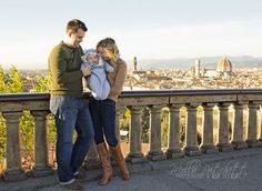 Florence, Italy Family Photo Shoot on Piazzale Michelangelo in the fall. Mollie Pritchett Photography & Web Design Travel Photography Private Tour Sessions in Florence! #FlorenceItaly #Photography #FamilyPortrait #Travel