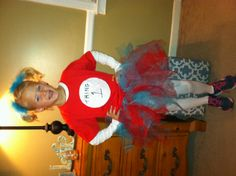 Dr Seuss day at school! Thing 1 costume, so simple.