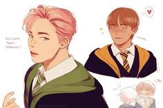 """1,083 Likes, 11 Comments - morbid bobtail (@sleiin) on Instagram: """"been thinking about this ever since i saw rapmon put jimin in slytherin o(-(( jimin coming back…"""""""