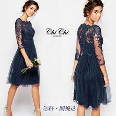 Chi Chi London ドレス-ミニ・ミディアム 【関税送料込】プレミアムレースワンピース