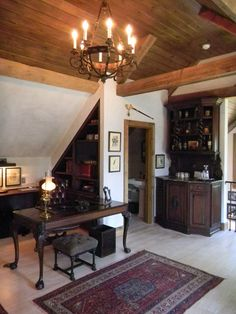 You Might Have Trouble Getting Work Done in This Beautiful Home Office!